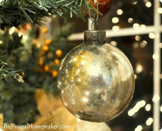 diy mercury glass ornament