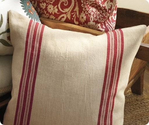 grain sack stripe pillow cover