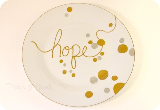 knock off hope plate