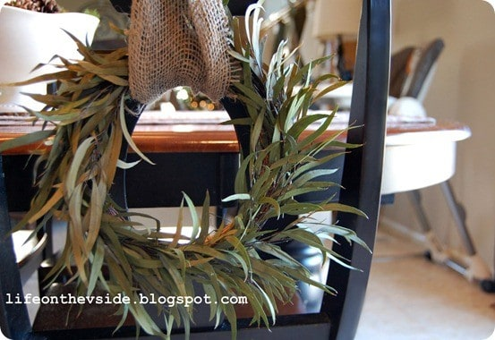 mini chair wreaths