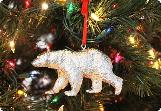 pb inspired mercury glass bear