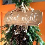 Silent Night Wood Sign