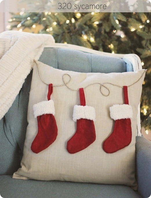 pb knock off stocking pillow