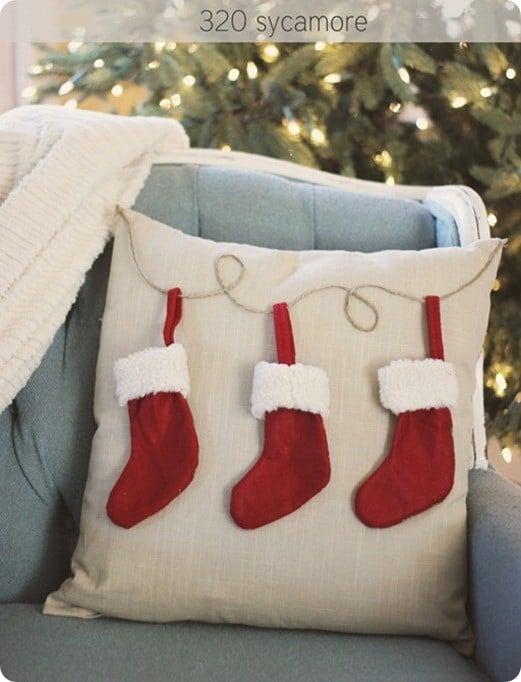 pb knock off stocking pillow