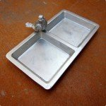 plastic to pewter tray