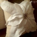 pottery barn inspired poinsettia pillow