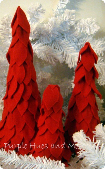 red felt christmas trees