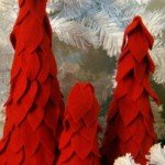 red felt christmas trees