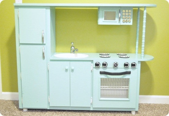 Retro Play Kitchen From Cabinet