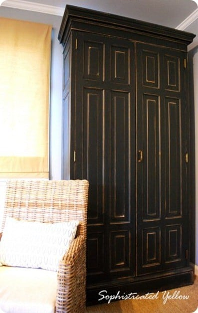 Distressed Black Armoire Knockoffdecor Com