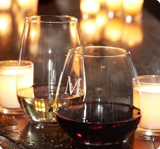 schott zwiesel stemless wineglasses from pottery barn