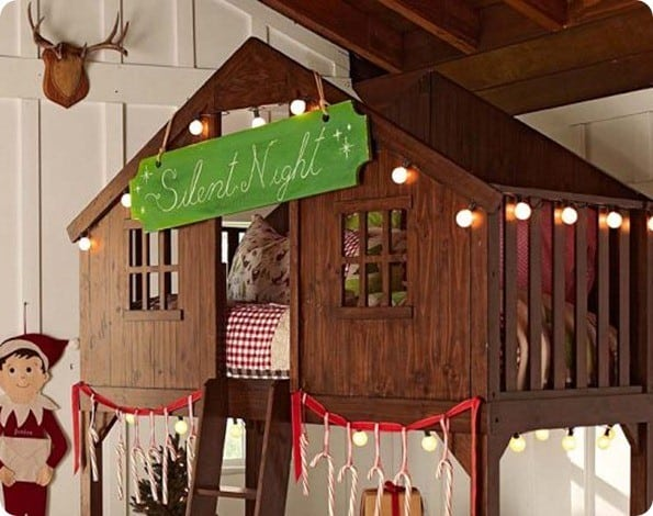 silent night sign on eli fort bed from pottery barn kids