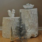Painted Tree Stump Tables
