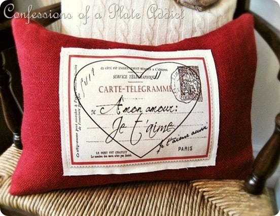 Valentine's Day ~ Pottery Barn Inspired Valentine Pillow
