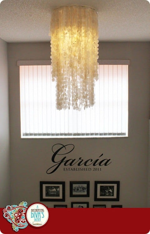 DIY Capiz Shell Chandelier 9