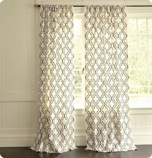 stenciled curtains turkish shower curtain ballard designs