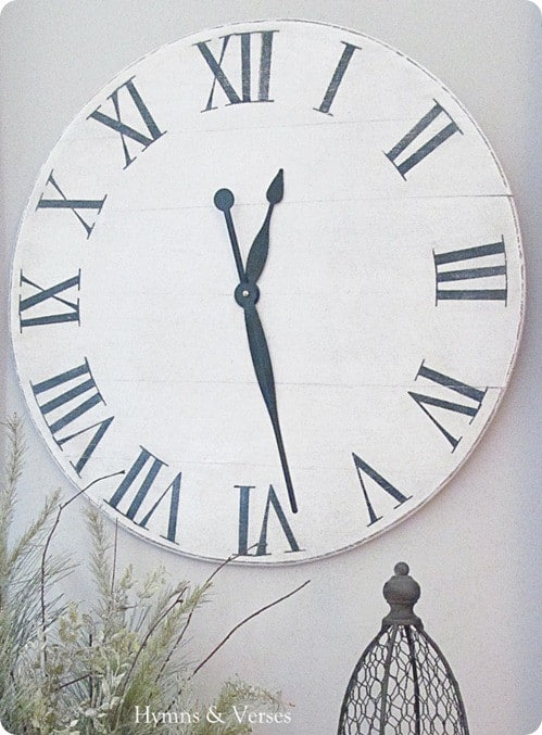 Oversized Wall Clock From Old Tabletop Knockoffdecor Com