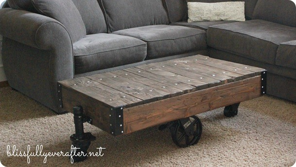 Restoration Hardware Factory Cart Table Knockoff