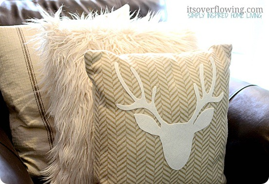 West-Elm-Knockoff-Antler-Pillow-ItsOverflowing