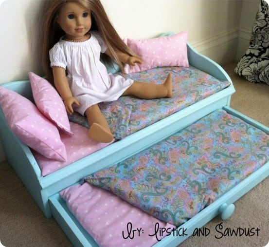 American girl daybed trundle plans : Doll trundle bed