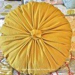 Round Rosette Pillow