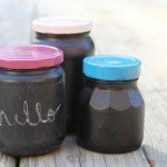 anthropologie inspired chalkboard jars