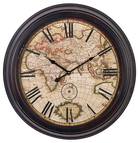 club antique map clock