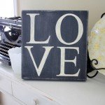 distressed love canvas