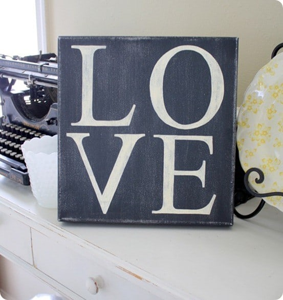 Distressed Love Canvas Knockoffdecor Com