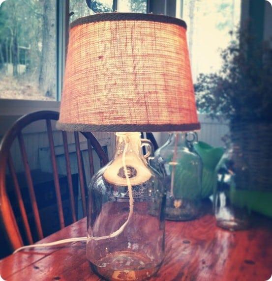 Pottery Barn Furniture Repair Kit: DIY Bottle Lamp