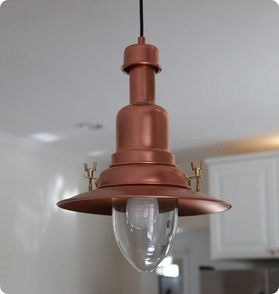 diy copper barn light