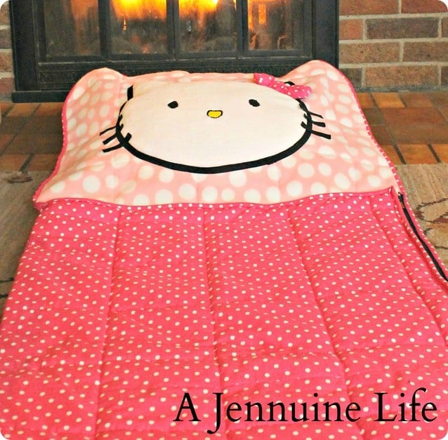diy hello kitty sleeping bag