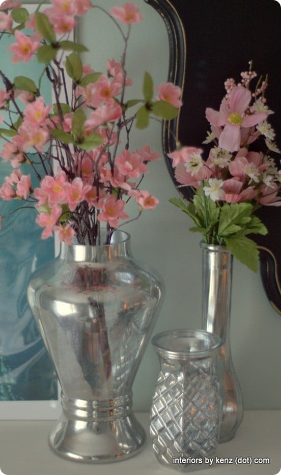 diy mercury vases