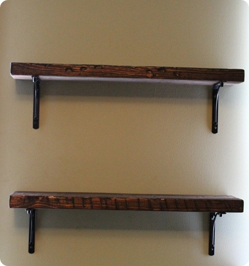 reclaimed wood shelf