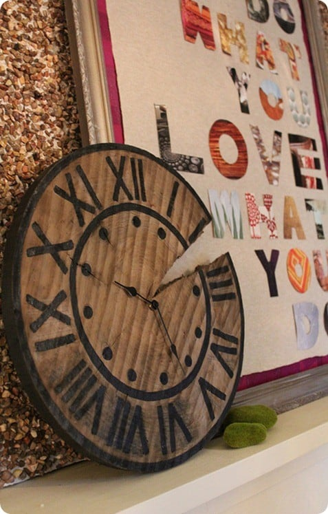 diy rustic wood clock