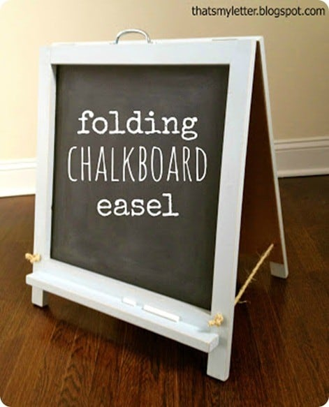 Wood Projects ~ Build this adorable tabletop chalkboard easel with plans from Ana White!