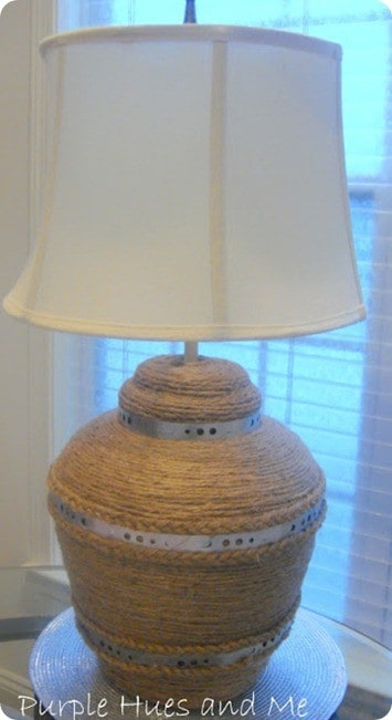 jute and metal lamp inspired by pottery barn