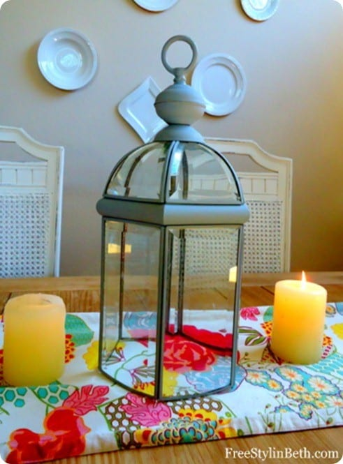 lantern from brass light fixture