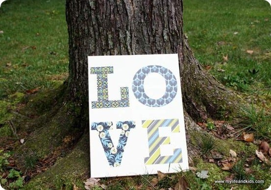 mod podge love canvas