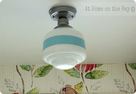 DIY Lighting ~ Make over a basic light from the hardware store with paint!