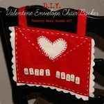 Valentine's Envelope Chair Backer