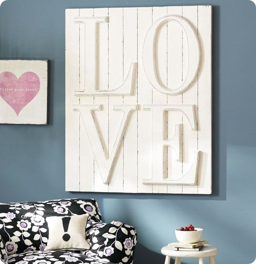 pb teen love wall plaque