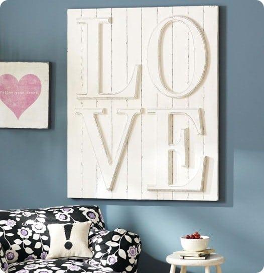 pb teen love wall plaque