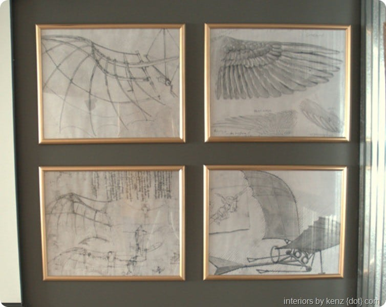 Gold Framed Sketches