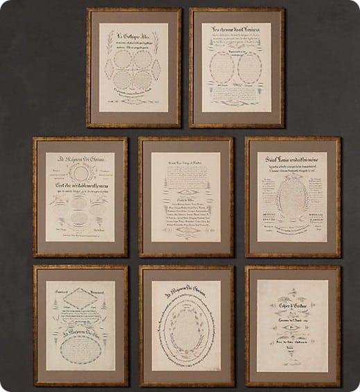 rh antique manuscript pages