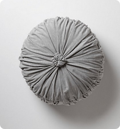 rosette round pillow from anthropologie