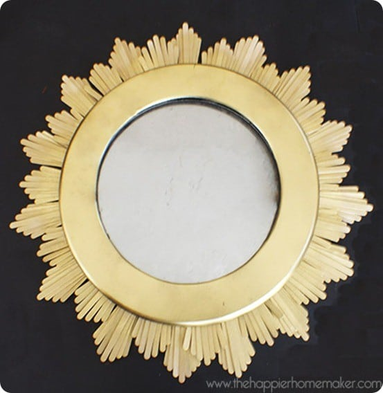 sunburst mirror from popsicle sticks