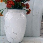 Hive Patterned Vase