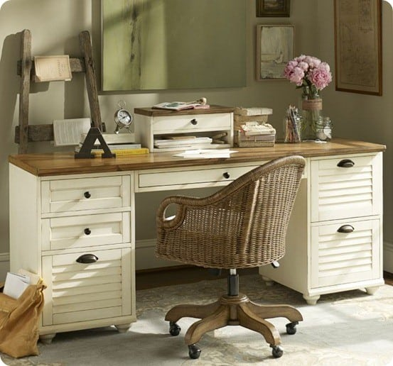 White Desk With Wood Top Knockoffdecor Com