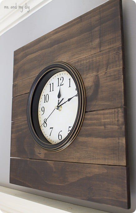 wood framed wall clock